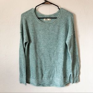 Hollister Teal Knit Sweater
